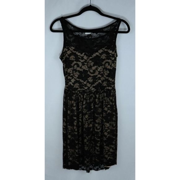 Suzy Shier lace fit & flare dress
